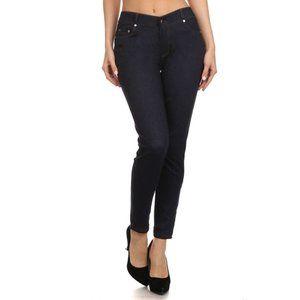 Five Pocket Blue Demin Jean leggings